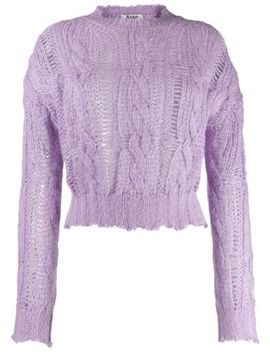 Frayed Cable Knit Sweater by Acne Studios