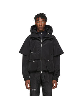 Black Technical Jacket by Heliot Emil