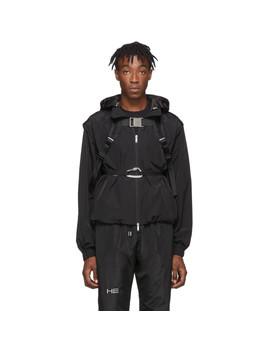 Black Technical Vest Jacket by Heliot Emil