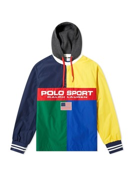 Polo Ralph Lauren Polo Sport Logo Popover Hooded Jacket by Polo Sport
