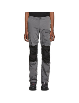 Grey & Black Technical Cargo Pants by Heliot Emil