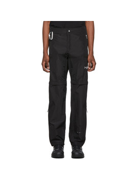 Black Convertible Zip Off Trousers by Heliot Emil
