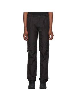 Black Technical Layered Trousers by Heliot Emil