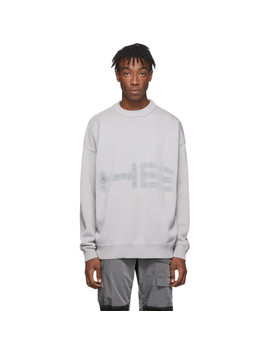 Grey Knit Cotton Sweater by Heliot Emil