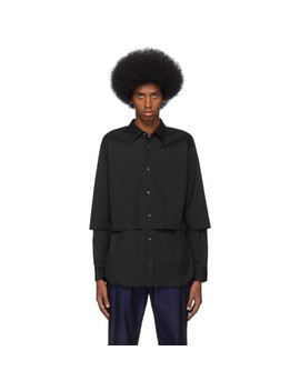 Black Cotton Poplin Layered Shirt by Comme Des GarÇons Shirt