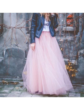Party Train Fashion Womens Lace Princess Fairy Style 4 Layers Voile Tulle Skirt Bouffant Puffy Fashion Skirt Long Tutu Skirts by Ali Express.Com