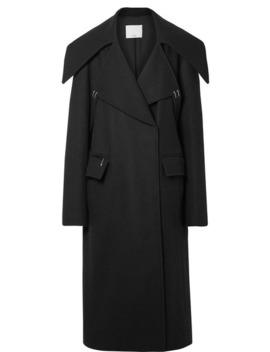 Oversized Embellished Wool Blend Coat by Tibi