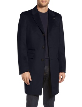 Danez Slim Fit Wool Overcoat by Ted Baker London