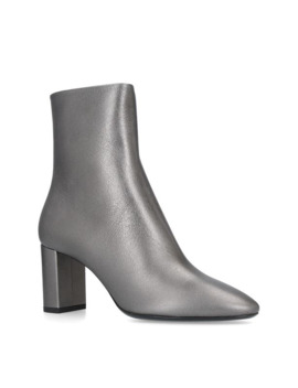 Loulou Ankle Boots 95 by Saint Laurent