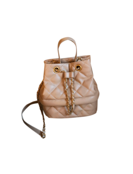 Lixna Quilted Leather Bucket Tote Bag by Jessica Buurman
