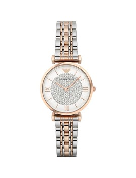 Emporio Armani Women's Retro Two Tone Stainless Steel Quartz Watch Ar1926 by Emporio Armani