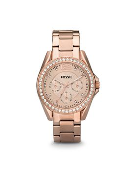 Fossil Women's Riley Multifunction Rose Gold Stainless Steel Watch (Style: Es2811 P) by Fossil