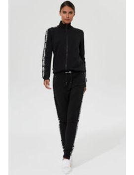 Karl Lagerfeld Paris Zip Logo Sweatpant Karl Lagerfeld Paris Zip Logo Sweatpant by Long Tall Sally