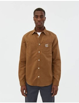 Tony Canvas Shirt In Hamilton Brown by Carhartt Wip Carhartt Wip