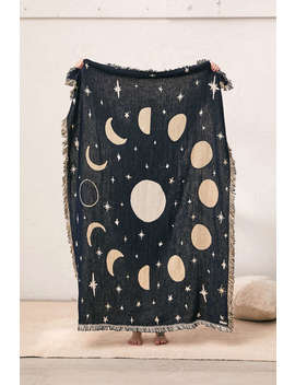 Calhoun & Co. Moon Phases Throw Blanket by Calhoun &Amp; Co.
