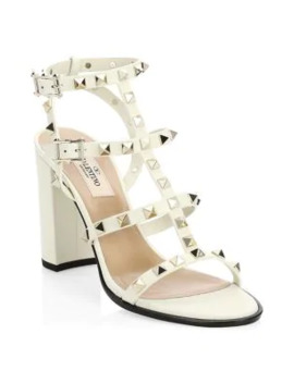 Rockstud Cage Leather Sandals by Valentino Garavani