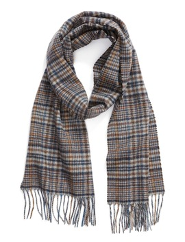 Tattersall Cashmere Scarf by Nordstrom Men's Shop