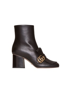 Gucci Leather Ankle Boot In Black by Gucci