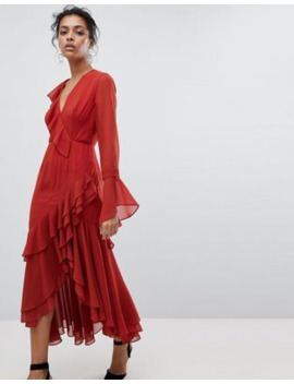 C/Meo Collective Ruffle Wrap Dress by C/Meo Collective's