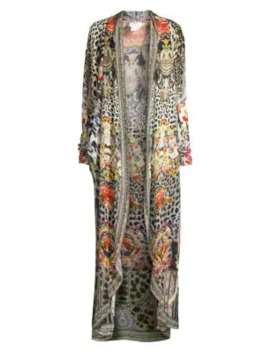 La Fleur Libertine Silk Print Long Topper by Camilla
