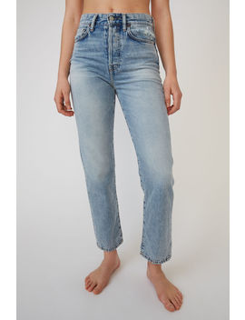 Cropped Straight Fit Jeans Dark Blue by Acne Studios
