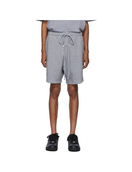 Grey Reflective Logo Sweat Shorts by Essentials