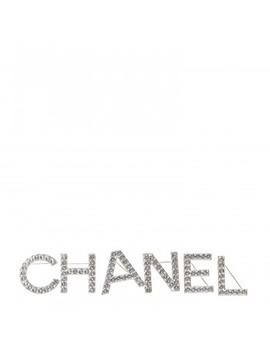 Chanel Crystal Logo Brooch Set Gold by Chanel