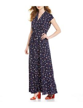 Floral Print Maxi Shirt Dress by Draper James