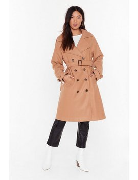 Fall Into Fall Belted Longline Coat by Nasty Gal