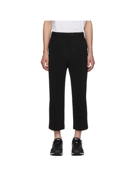 Black Pleated Trousers by Homme PlissÉ Issey Miyake