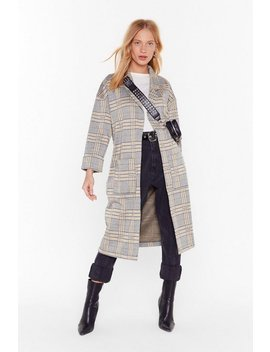 Let's Check It Out Longline Trench Coat by Nasty Gal