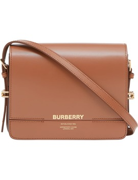 Small Grace Colorblock Leather Crossbody Bag by Burberry
