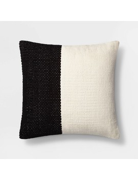 Square Colorblock Pillow Cream/Black   Project 62™ by Shop Collections