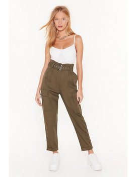 Cargo For It High Waisted Belted Pants by Nasty Gal