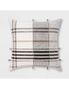 Square Woven Plaid Pillow   Threshold™ by Shop Collections