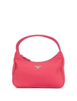Logo Plaque Handbag by Prada Pre Owned