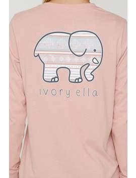 Rose Tan Ojai Stripes Long Sleeve Ella Tee by Ivory Ella