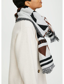 Geo Blanket Scarf by Wilfred