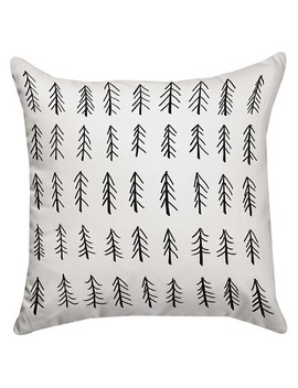 "Black Little Tree Throw Pillow (14""X14"") Thumbprintz by Shop This Collection"