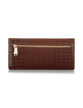 Ady Croc Embossed Leather Wallet by Brahmin