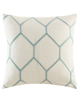 "20""X20"" 2pk Geometric Embroidered Throw Pillow by Jla Home"