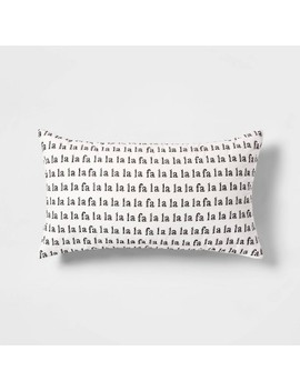 Fa La La' Printed Velvet Oversize Lumbar Throw Pillow With Linen Reverse White/Black   Threshold™ by Threshold