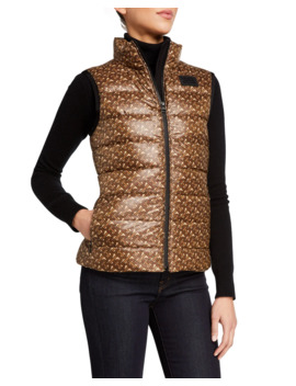 Monogram Print Quilted Vest by Burberry