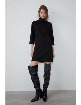 High Collar Dress It's Halloweenwoman by Zara
