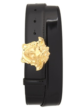 Palazzo Medusa Buckle Leather Belt by Versace