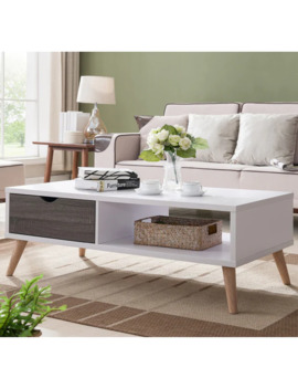 Arella Ii Modern Distressed Grey White Coffee Table By Foa by Furniture Of America