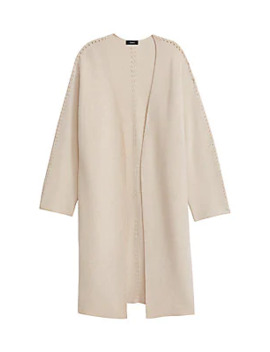 Whipstitch Wool & Cashmere Long Cardigan by Theory
