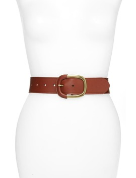 Wrapped Buckle Leather Belt by Halogen®