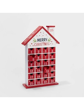 Merry Christmas Countdown House Advent Calendar With Drawers   Wondershop™ by Shop This Collection