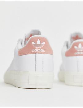 Zapatillas En Blanco Y Rosa Continental 80 Vulc De Adidas Originals by Adidas